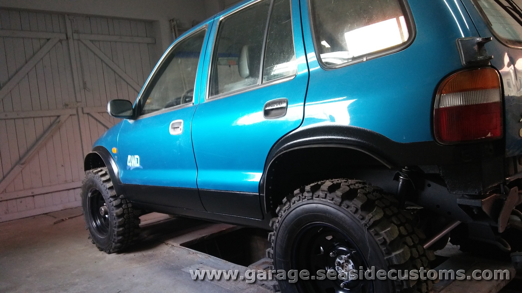My sportage 39 95 recond and mods 4x4wire trailtalk for Garage kia 95